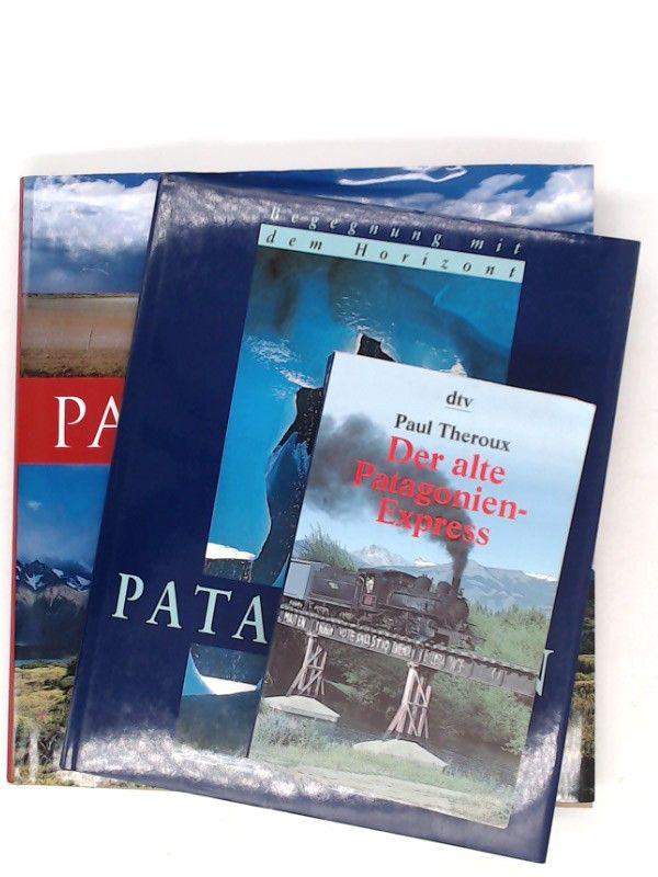 Stadler, Hubert (Fotos), Michael Allhoff (Text) und Susanne Asal (Text): 2 Bücher und 1 Zugabe - 1) Stadler/ Allhoff: Patagonien; 2) Stadler/ Asal: Begegnungen mit dem Horizont. Patagonien. ZUGABE: Paul Theroux. Der alte Patagonien-Express.