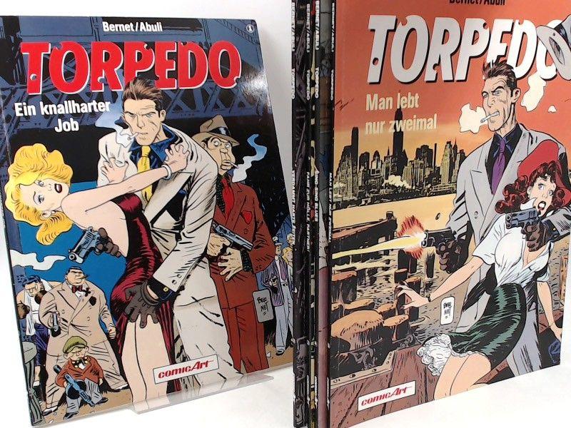 Abuli, Sanchez (Text) und Jordi Bernet (Zeichnungen): Torpedo - vollständig Band 1 bis 5 zusammen: 1: Ein knallharter Job; 2: Verdammt harte Zeiten; 3: Fahr zur Hölle, Partner!; 4: Sing-Sing Blues; 5: Man lebt nur zweimal. [Edition ComicArt]