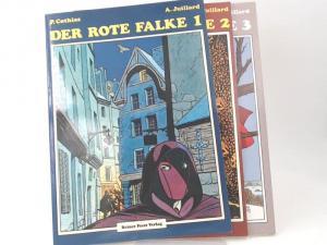 Cothias, Patrick und André Juillard: 3 Hefte zusammen - Der rote Falke 1; Der rote Falke 2; Der rote Falke 3.