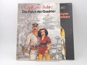 Gine: 2 Bände zusammen - Capitaine Sabre: Band 1) Die Fahrt der Gaukler; Band 2) Vom Sturm geschrieben.