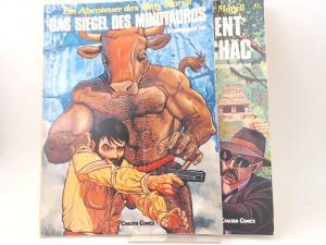 He, Dominique: 2 Bände zusammen - Ein Abenteuer des Marc Marell. 1) Band 2: Das Siegel des Minotauros; 2) Band 3: Das Testament des Gottes Chac.