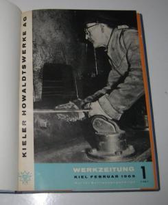 Kieler Howaldtswerke AG (Hrsg.): Sammelband / Konvolut: Kieler Howaldtswerke AG. Werkzeitung. Kompletter Jahrgang 1963. Band 1, Februar 1963. Band 2, April 1963. Band 3, Juni 1963. Band 4, August 1963. Band 5, Oktober 1963. Band 6, Dezember 1963.