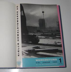 Kieler Howaldtswerke AG (Hrsg.): Sammelband / Konvolut: Kieler Howaldtswerke AG. Werkzeitung. Kompletter Jahrgang 1964. Band 1, Januar 1964. Band 2, April 1964. Band 3, Juni 1964. Band 4, August 1964. Band 5, Oktober 1964. Band 6, Dezember 1964.