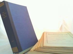 Cordes, Gerhard (Herausgeber), A. Lasch (Begr.) und C. Borchling (Begr.): Mittelniederdeutsches Handwörterbuch Band I und II - 23 Lieferungen zusammen. Mit Einbanddecke von Band I: A - F/V.