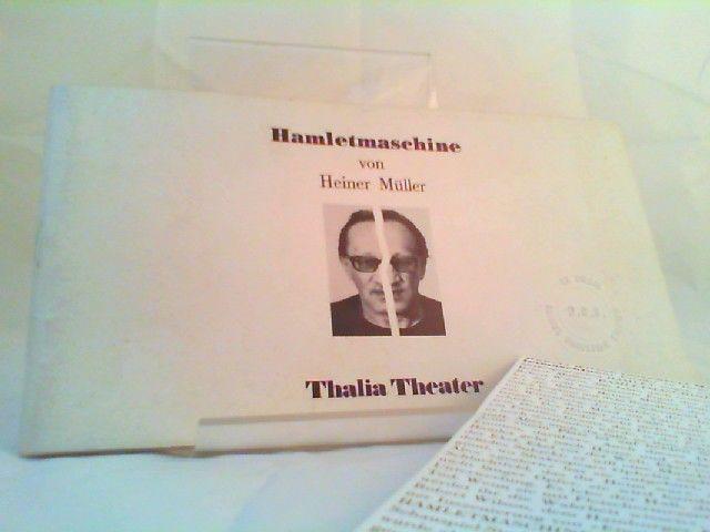 Thalia Theater (Hg.) und Heiner Müller: Hamletmaschine. Thalia in der Kunsthalle. Spielzeit 1986/1987 - Heft 13. 0