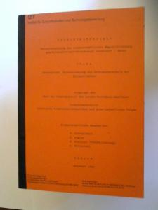 Dunckelmann, H. [Bearb.], H. Kögler [Bearb.] und R. Kreibich [Bearb]: Forschungsprojekt: Teiluntersuchung der Wissenschaftlichen Begleitforschung zum Bildschirmtext-Feldversuch Düsseldorf / Neuss. Thema: Datenschutz, Datensicherung und Verbraucherschut...