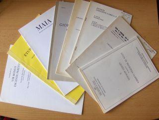 """Calboli *, Gualtiero: 9 TITELN v. G. CALBOLI # : """"L`ARTE DELLA RETORICA NEL MONDO ROMANO"""" aus ATHENAEUM Vol. LXIX Fasc. I-II (1981) 216-222 // """"Il miles gloriosus di Terenzio e l`infinito storico latino"""" aus STUDI DI FILOLOGIA CLASSICA"""