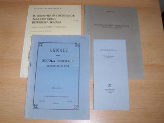 """4 TITELN (ITALIENISCH.) ZUR ANTIKE GESCHICHTE : MARTIN DREHER """"LA DISSOLUZIONE DELLA POLIS DI LEONTINI DOPO LA PACE DI GELA (424 a.C.)"""" aus ANNALI DELLA SCUOLA NORMALE SUPERIORE DI PISA, Serie III, Vol. XVI, 3, Pisa 1986, S. 637-660 // UMBERTO L"""