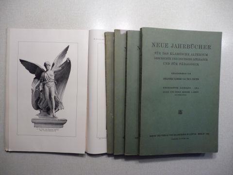 Ilberg (Hrsg.), Johannes und Paul Cauer (Hrsg.): NEUE JAHRBÜCHER FÜR DAS KLASSISCHE ALTERTUM, GESCHICHTE UND DEUTSCHE LITERATUR UND FÜR PÄDAGOGIK. SIEBZEHNTER JAHRGANG.1914 - XXXIII. u. XXXIV. Bandes - 1. 2. 3. 4. 5. HEFT. 5 Hefte. Nur zusammen. Mit ve...