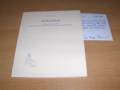 Flashar *, Martin: METRODOROS - EIN PHILOSOPHENPORTRÄT IN DER ARCHÄOLOGISCHEN SAMMLUNG DER UNIVERSITÄT FREIBURG. + AUTOGRAPH *. Mit Farbaufnahmen von Wilhelm Gut.