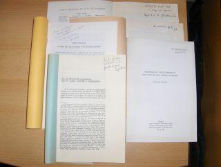 """KONVOLUT VON 5 HEFTE in ITALIENISCH MIT JE EINE WIDMUNG: Giovanni Casadio """"ANTROPOLOGIA ORFICO-DIONISIACA NEL CULTO DI TEBE, CORINTO E SICIONE"""" aus """"Sangue e Antropologia, Riti e culto"""", Roma, 1984, S.191-260 inkl. Bibliographie // Ant"""