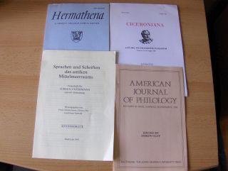 Konvolut Von 4 Hefte Römische Lateinische Philologie Englisch