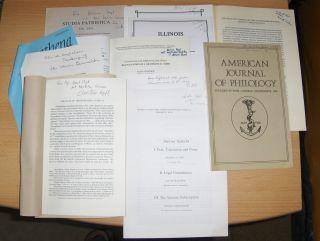 Konvolut Von 10 Hefte Griechische U Römische Philologie Englisch