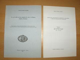 """Gaiarin, Paola Gloria: 2 TITELN v. P.G. GAIARIN : """"...NEL PHILOGELOS DI IEROCLE E FILAGRIO E NELL`ETYMOLOGICUM MAGNUM"""" aus ANNALI DELL`ISTITUTO ITALIANO PER GLI STUDI STORICI XIII (1995-1996) 135-147 // """"La ....(siehe Foto) nella sua idea o"""