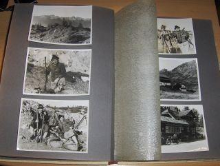 PRIVAT-FOTOS-ALBUM (1941-1945) MIT ca 175 AUFNAHMEN (größt. JAGD - BERGE - REISEN - FRONTURLAUB - SOLDATEN - FAMILIEN) *.
