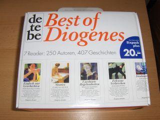 Best of Diogenes - Das literarische (Sixpack plus) Taschenbuch - 7 Taschenbücher in Karton-Koffer (ungelesen). 7 Reader: 250 Autoren, 407 Geschichten *.