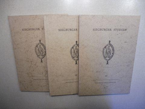 Mittler OSB (Hrsg.), Mauritius: SIEGBURGER STUDIEN III - IV - V. LIBELLUS DE TRANSLATIONE SANCTI ANNONIS ARCHIEPISCOPI ET MIRACULA SANCTI ANNONIS ...BERICHT...ANNONISCHE MIRAKELBERICHTE (SIEGBURGER MIRAKELBUCH). 3 HEFTE *. LATEINISCH - DEUTSCH.