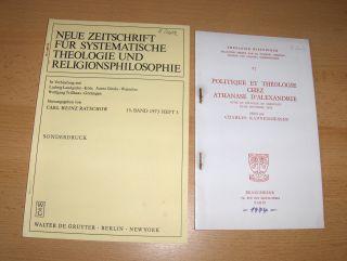 """Saake, Helmut: 2 TITELN v. H. SAAKE : """"Beobachtungen zur athanasianischen Pneumatologie"""" S.348-364 aus NEUE ZEITSCHRIFT FÜR SYSTEMATISCHE THEOLOGIE UND RELIGIONSPHILOSOPHIE, 15.Bd, Heft 3, 1973 De Gruyter // EN FRANCAIS - """"LA NOTION DE L..."""