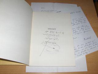 Esber (Adonis), Ali Ahmed Said: DESERT. + 2 AUTOGRAPHEN *.