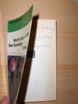 Gregor-Dellin *, Martin: Der Kandelaber. Roman.