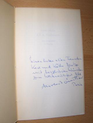 Günther *, Herbert: E.T.A. Hoffmann. Eine Biographie in Versen.