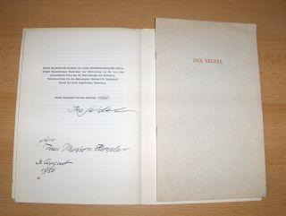 Seidel, Ina und Joachim Günther (1): INA SEIDEL - 2 Festschriften anläßlich ihres 70. Geburtstags 15.September 1975 + AUTOGRAPHE. INA SEIDEL FEIERT.../ INA SEIDEL DANKE AN BAYERN LESUNG.
