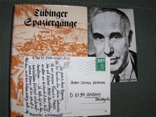 Kazmaier *, Martin: Tübinger Spaziergänge.