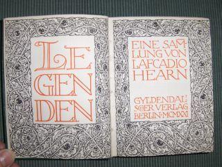 Hearn, Lafcadio: LEGENDEN *. Eine Sammlung von Lafcadio Hearn.