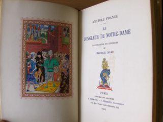 France, Anatole: Le Jongleur de Notre-Dame. Illustrations en couleurs de Maurice Lalau.