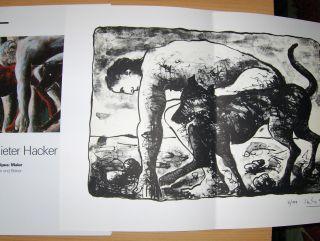 Brusberg (Hrsg.), Dieter, Peter Iden (Text) Dieter Hacker u. a.: Dieter Hacker Oedipus: Maler Bilder und Blätter + LITHOGRAPHIE *.
