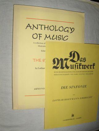 Hoffmann-Erbrecht, Lothar: The Symphony - DIE SINFONIE *. Deutsch-Text-Broschur extra im Hemd.