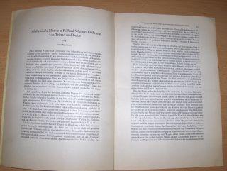 Vetter (Hrsg.), Walther: Franz Egermann: Aischyleische Motive in Richard Wagners Dichtung von Tristan und Isolde -Sonderdruck *.