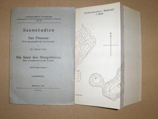 Fels (1), Dr. Edwin und Adolf Reissinger (2): (1) Seenstudien - Der Plansee . Eine geographische Seenstudie / (2) Die Seen des Illergebietes - Eine morphometrische Studie *.