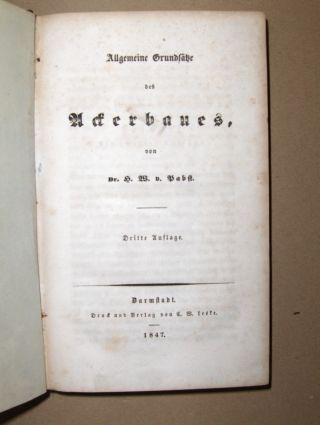 Pabst, Dr. H.W.: Allgemeine Grundsätze des Ackerbaues *.