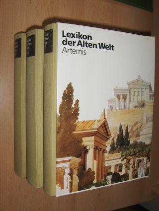 Verschiedenen Autoren: Lexikon der Alten Welt Artemis. 3 Bände A-G / H-Q / R-Z.