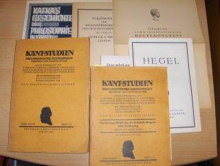 """Menzer (Hrsg.), Paul, Arthur Liebert Ernst Cassirer u. a.: KANT-STUDIEN - PHILOSOPHISCHE ZEITSCHRIFT * - BAND XXXVI - HEFT 1/2 u. HEFT 3/4 mit u.a. 9 Abhandlungen im Heft 1/1 mit z.b. v. Ernst Cassirer """"Kant und das Problem der Metaphysik"""". v. J"""