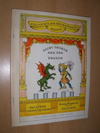 Jackson, Peter C., Mrs. Juliana Ewing and Ronald Smedley (Introd.): SAINT GEORGE AND THE DRAGON *. Designed and adapted by Mr. Peter C. Jackson from the original Toy Theatre play published in 1847 - together with another version compiled from Mummers play