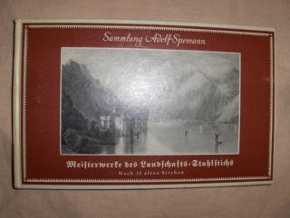 Spemann, Adolf: MEISTERWERKE DES LANDSCHAFTS-STAHLSTICHS *. Herausgegeben und eingeleitet...