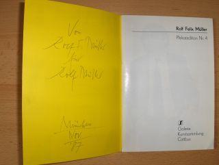 Schierz (Hrsg.), Heinz und Ullrich Wallenburg (Bearb.): Rolf Felix Müller. Plakatedition Nr. 4 *.