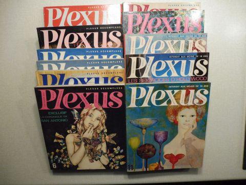 Grall, Alex, Louis Pauwels Jacques Mousseau u. a.: PLEXUS / LA REVUE QUI DECOMPLEXE // INTERDIT AU MOINS DE 18 ANS. N°s 1 - 2 - 3 - 4 - 5 - 6 - 7 - 8 - 9 - 10 - 11. (11 Hefte April-Mai 1966 bis Dec.-Janv. 1968) *.