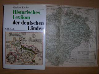 Köbler, Gerhard: BUCH: Historisches Lexikon der deutschen Länder + KARTE v. BÖHMEN *.