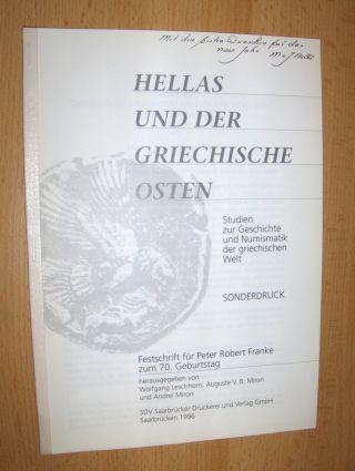 Nolle, Margret K. u. Johannes: GAMERSES (G. Hirsch-Auktionen 1992) - ÜBERLEGUNGEN ZUR IDENTITÄT EINES LOKALEN MÜNZHERRN IN ACHÄMENIDENREICH *. + AUTOGRAPH. Sonderdruck * zur HELLAS UND DER GRIECHISCHE OSTEN - Studien zur Geschichte und Numismatik der g...