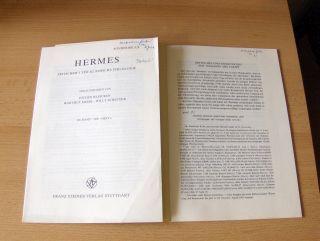 Jakobi, Rainer *: 2 TITELN v. R. JAKOBI : KRITISCHES UND EXEGETISCHES ZUR `IOHANNIS` DES CORIPP / CHROMATIANA. + 2 AUTOGRAPHEN *. Sonderdruck - Estratto - Extraits aus HERMES - ZEITSCHRIFT FÜR KLASSISCHE PHILOLOGIE, 117. Band, Heft 1, 1. Quartal u. 118...