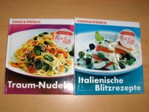 Ploog, Peter und Gabriele Götzer: Traum-Nudeln / Italienische Blitzrezepte *. 2 Bände.
