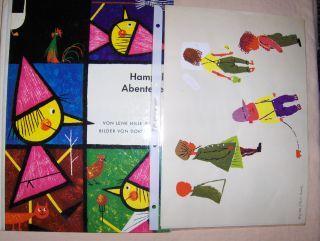 Hille Brandts, Lene: Hampels Abenteuer. Bilder (+ Original Handarbeit - Beilagen) von Doris Dumler *.