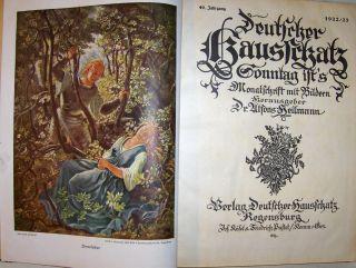 Heilmann (Hrsg.), Dr. Alfons: Deutscher Hausschatz - Sonntag ist`s . Monatsschrift mit Bildern. 49. Jahrgang 1922/23.