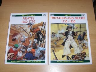Konstam, Angus, Angus McBride (Colour plates by) and Lee Johnson (Editor): PIRATES 1660-1730 / PRIVATEERS AND PIRATES 1730-1830 *. 2 Bände / 2 Vol.