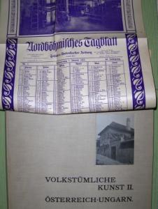 Gerlach, Martin und Joseph Aug. Lux (Vorwort): VOLKSTÜMLICHE KUNST. II. ÖSTERREICH-UNGARN + Kalender *. Herausgeben und Photographisch aufgenommen von Martin Gerlach.