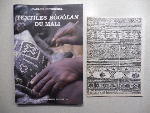 Duponchel, Pauline und Alain Germond (Fotos): TEXTILES BOGOLAN DU MALI *. (COLLECTIONS DU MALI N° 8).