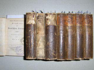 Herder, Johann Gottfried von: (Sämmtliche Werke). Zur schönen Literatur und Kunst. 8 Bände: von I. Theil bis XVIII. Theil (ohne Theile III u. IV in 1 Band.).